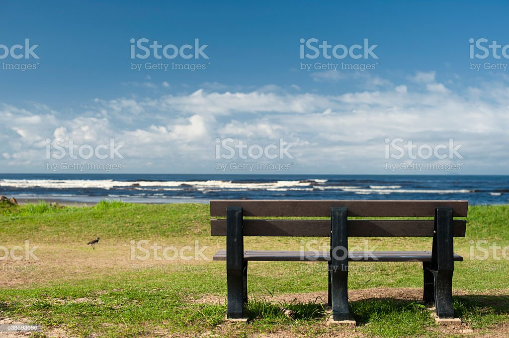 Bench and Skyline stock photo