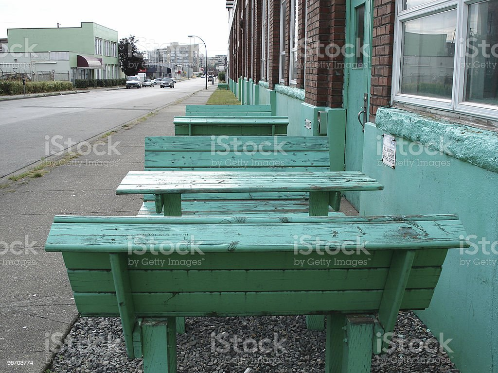 bench and table royalty-free stock photo