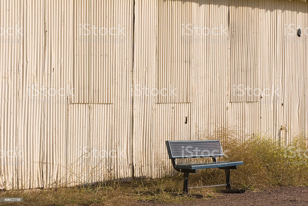 Bench Angle royalty-free stock photo