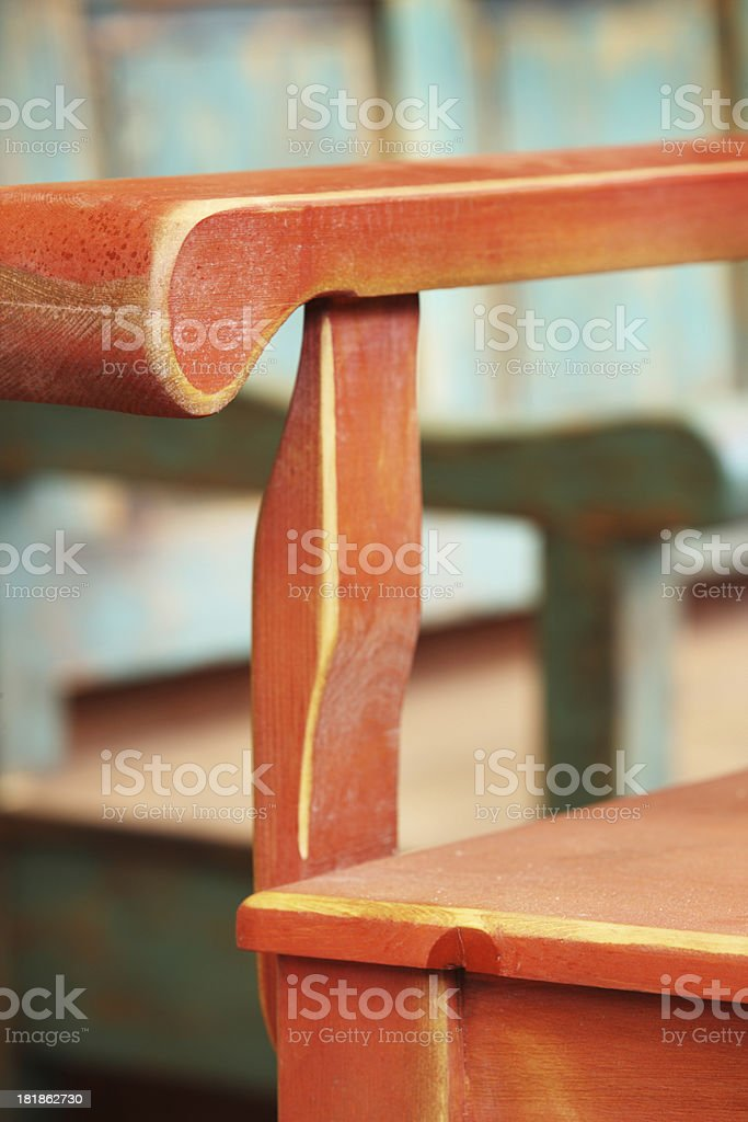 Bench Armchair Seating Furniture royalty-free stock photo