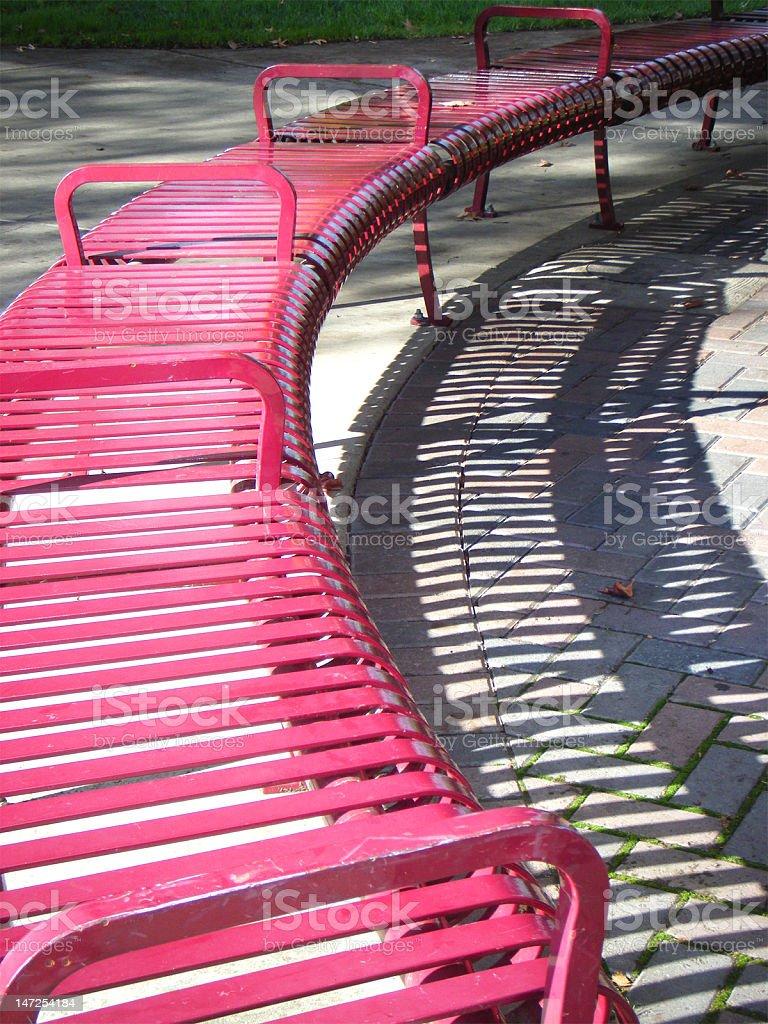 まるで、公園のベンチで ロイヤリティフリーストックフォト