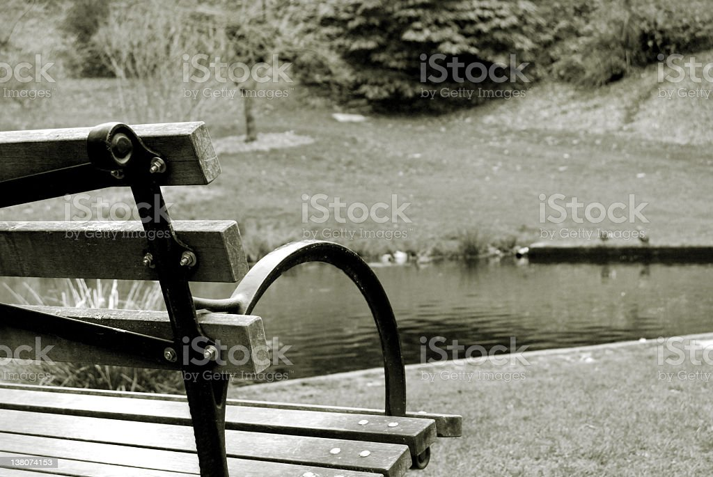 Bench at Park royalty-free stock photo