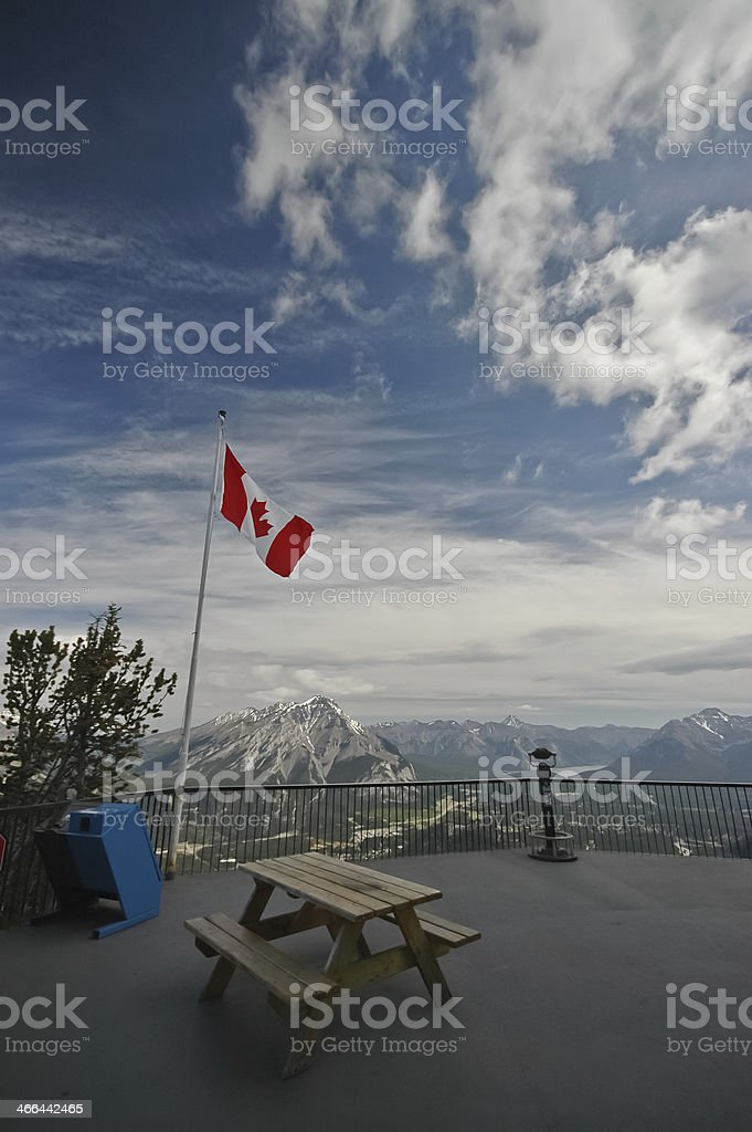 Bench at the peak royalty-free stock photo