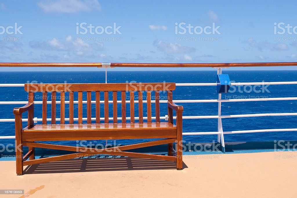 Bench at the Sea stock photo