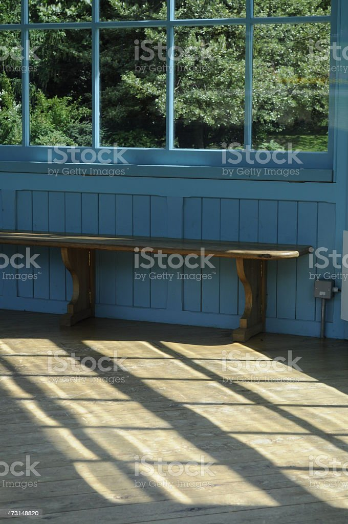 Bench in Bandstand stock photo
