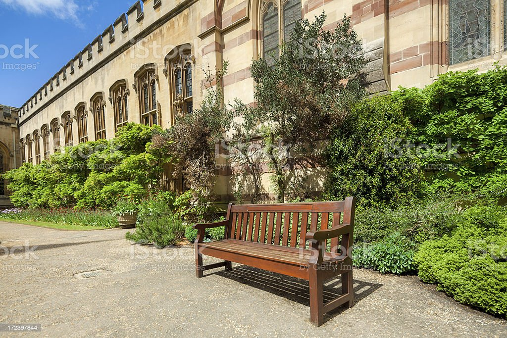 Bench in Oxford royalty-free stock photo