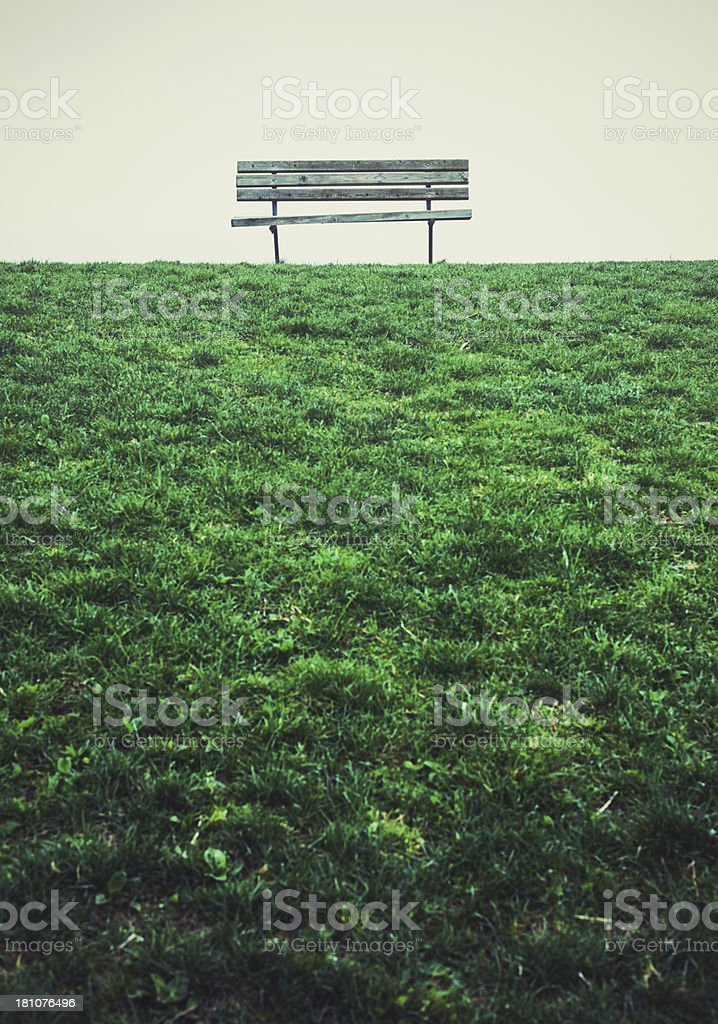 Bench in Park royalty-free stock photo