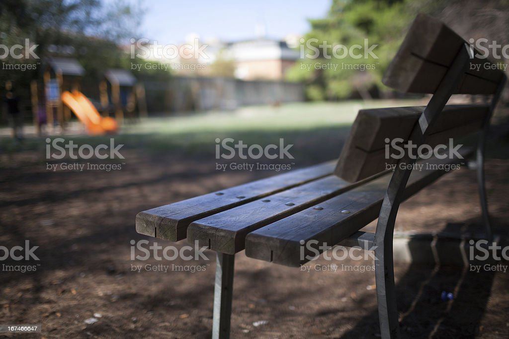 Bench in the park royalty-free stock photo
