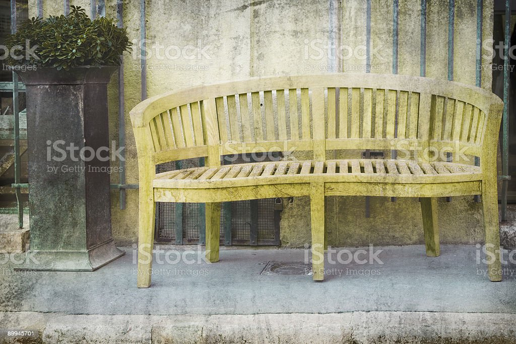 bench on the street royalty-free stock photo
