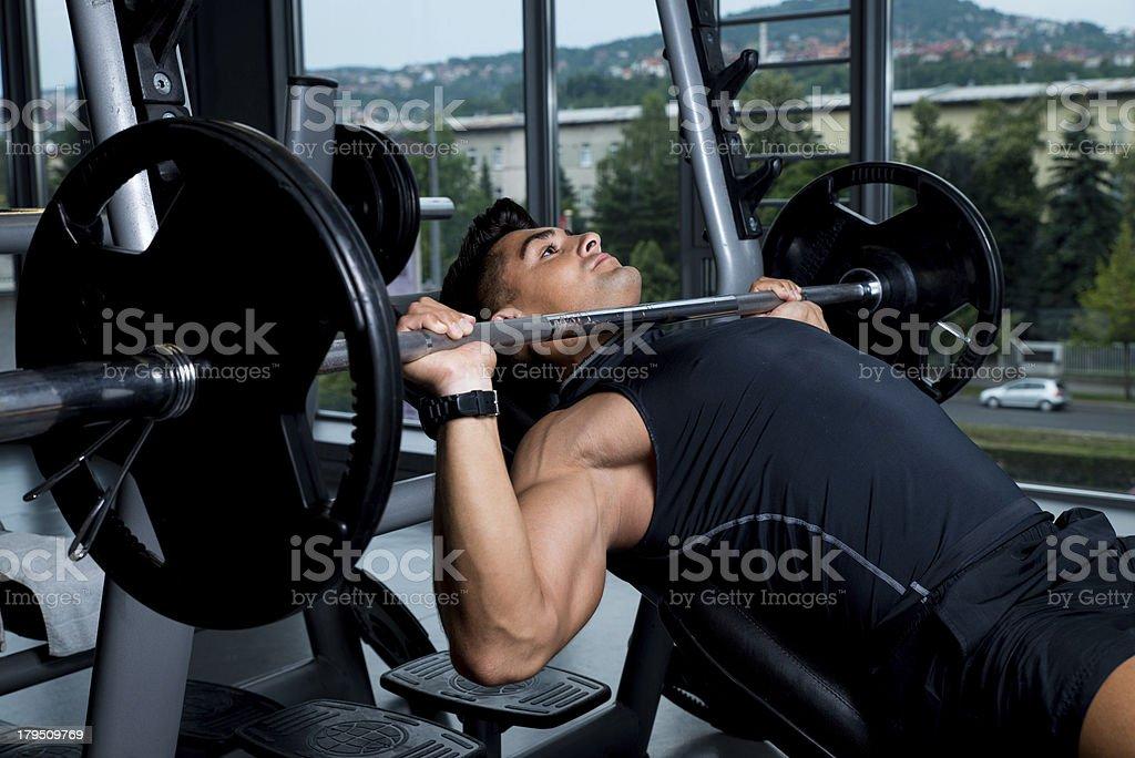 Bench Press Exercise stock photo