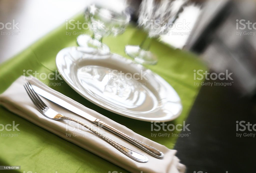 Banquette Table royalty-free stock photo