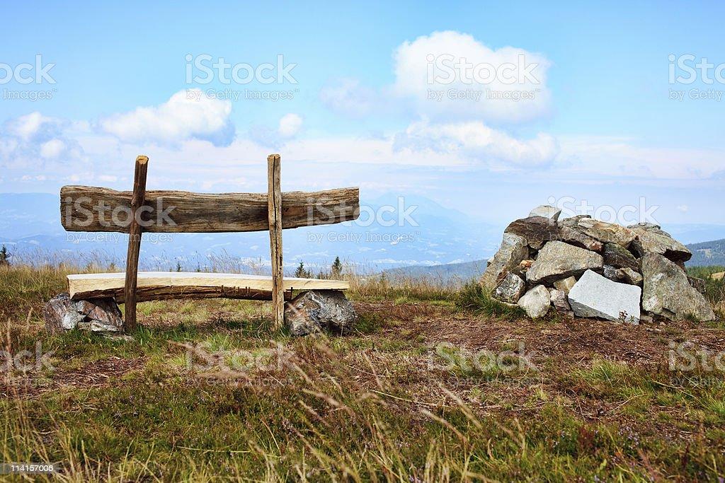 Bench View stock photo