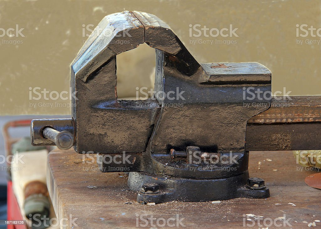 Bench vise royalty-free stock photo