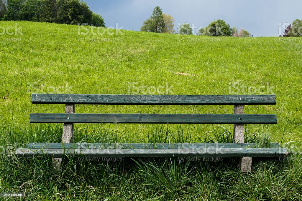 Bench with a view stock photo