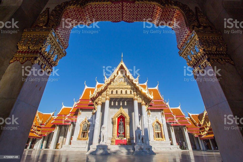 Benchamabophit Dusitvanaram Temple stock photo
