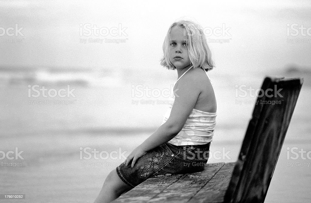 Benched royalty-free stock photo