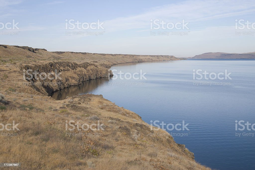 bend in the Columbia River stock photo