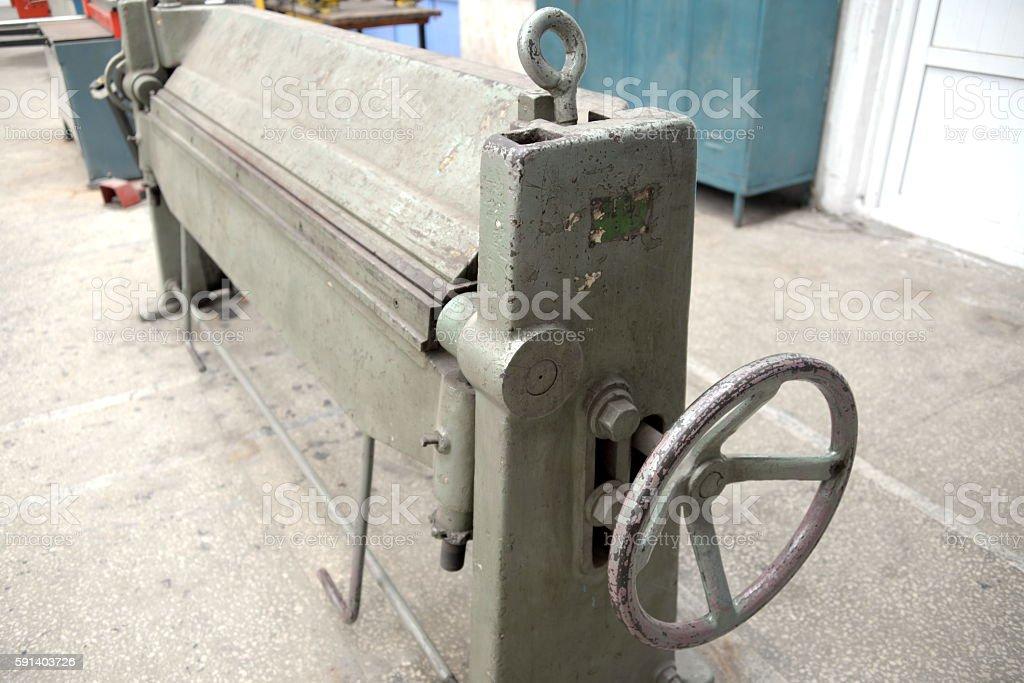 bending machine stock photo