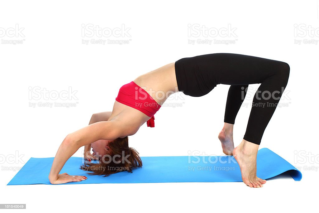 bending over backwards royalty-free stock photo