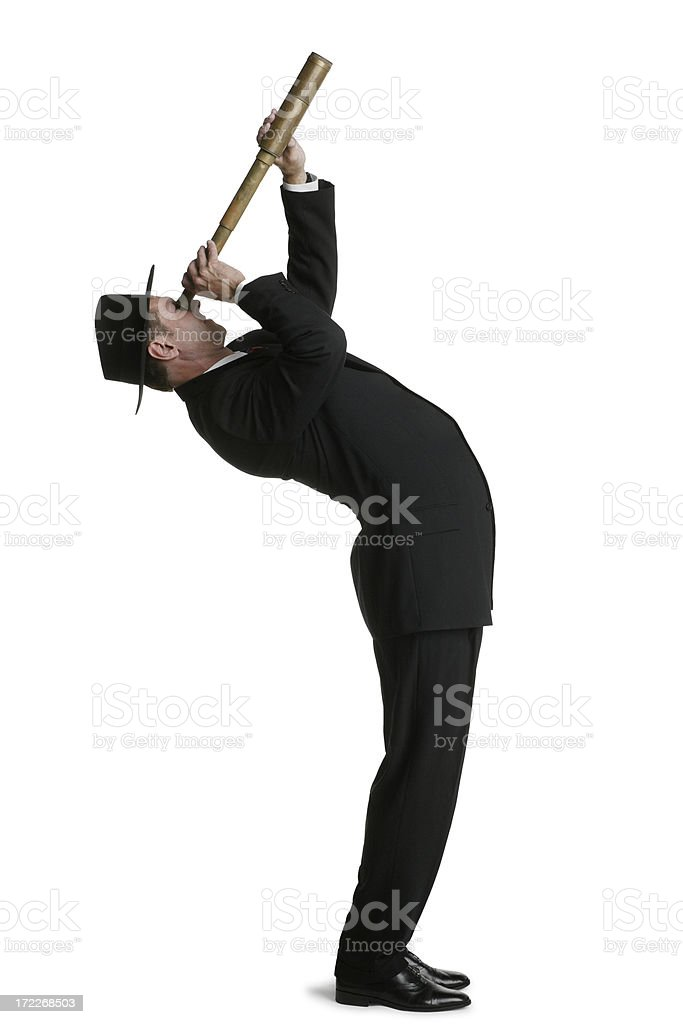 Bending Over Backwards stock photo