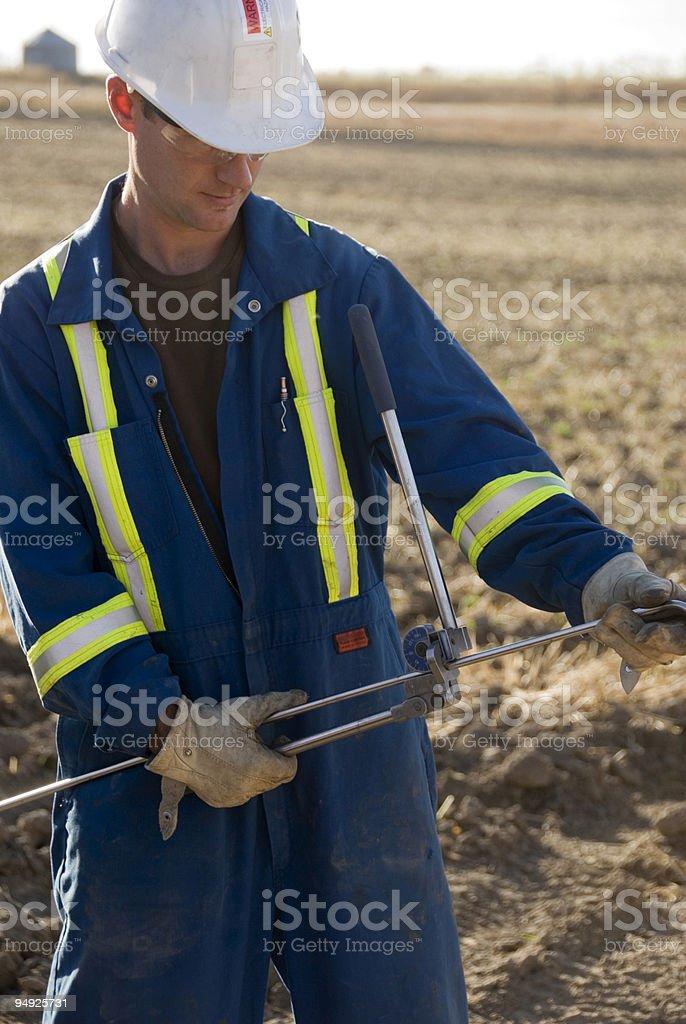 Bending Pipe royalty-free stock photo