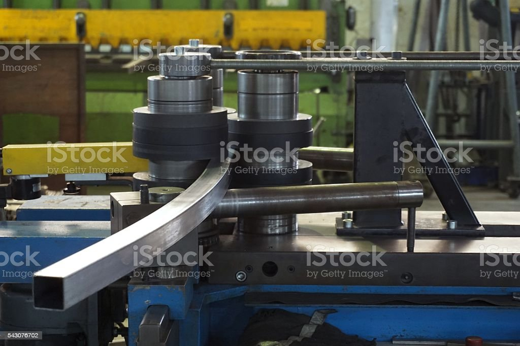 bending tube machine stock photo