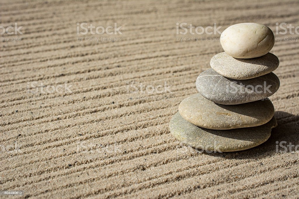 Bending Zen Tower stock photo