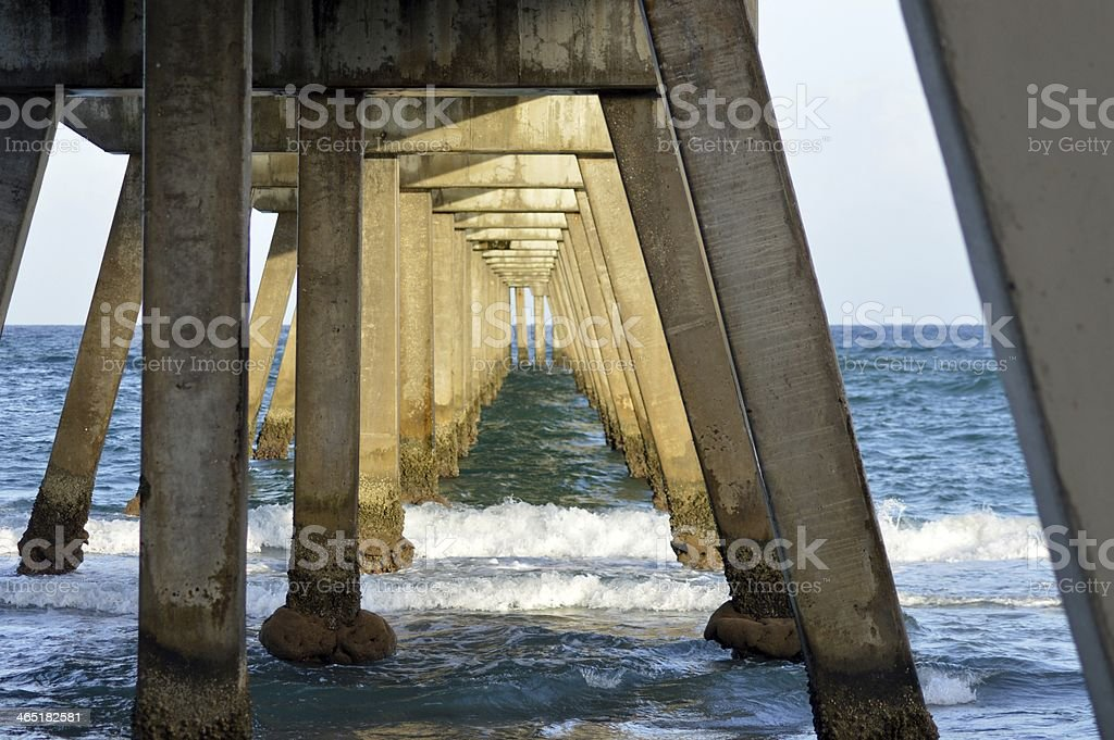 Beneath Fishing Pier royalty-free stock photo