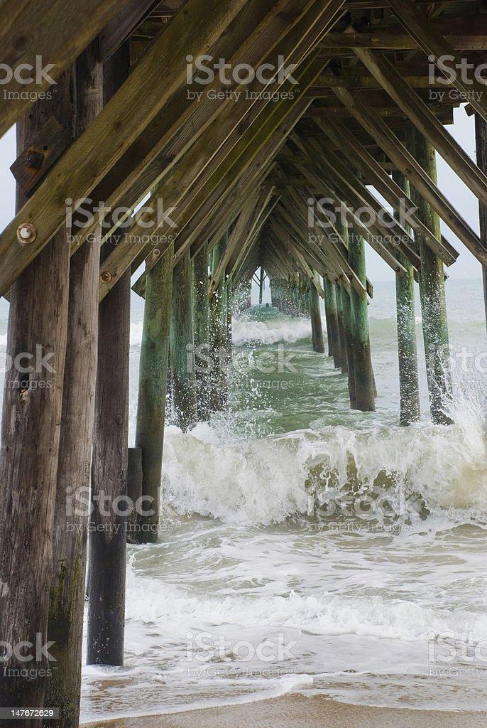 Beneath the Pier stock photo