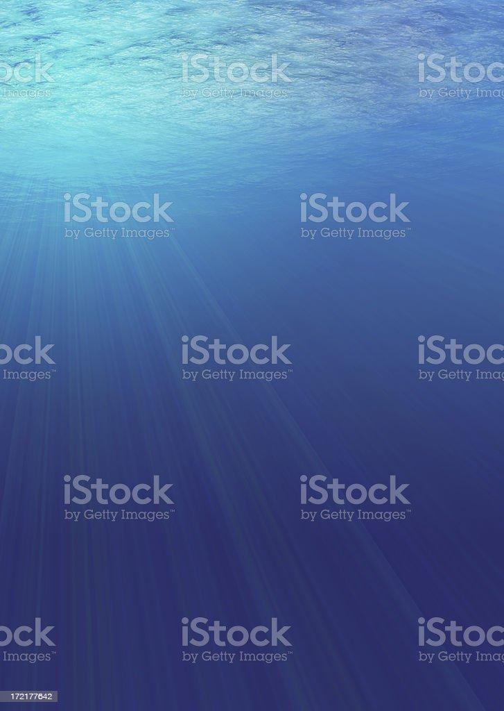 beneath the waves stock photo