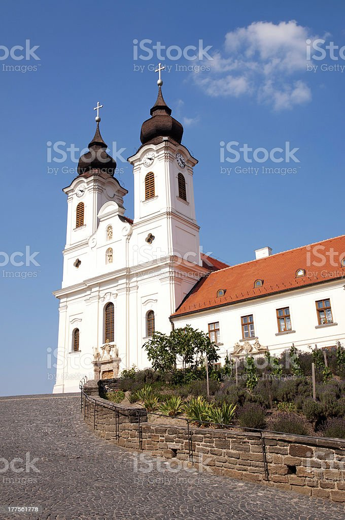 Benedictine abbey in Tihany, Hungary royalty-free stock photo