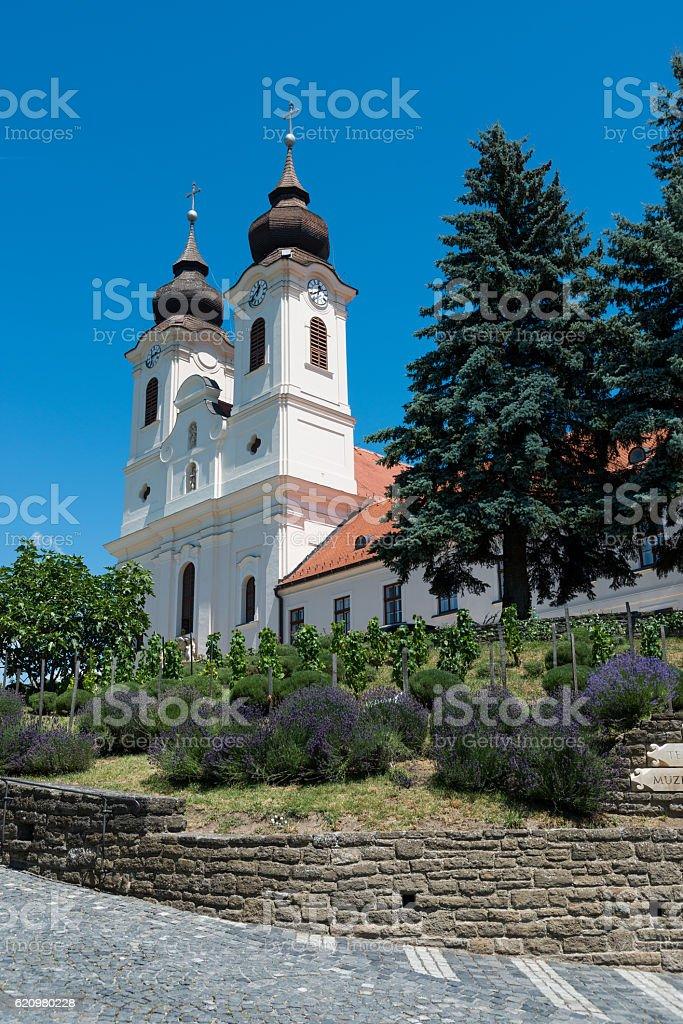 Benedictine abbey in Tihany, Hungary stock photo