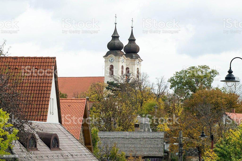 Benedictine Abbey in Tihany Hungary stock photo