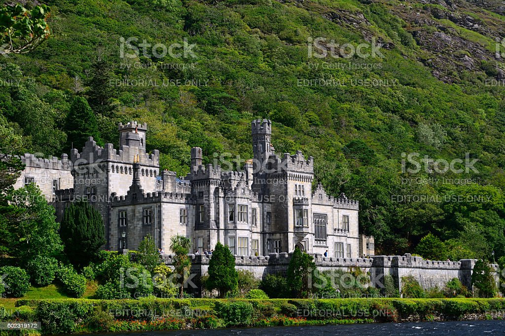 Benedictine abbey, Kylemore, Ireland stock photo