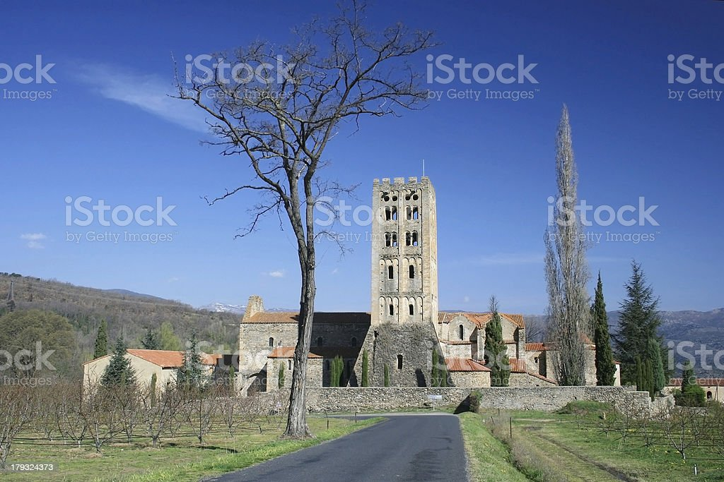Benedictine abbey of Saint Michel de Cuxa royalty-free stock photo