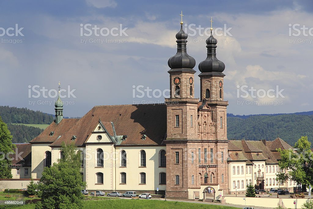 Benedictine Abbey of St. Peter in Germany stock photo