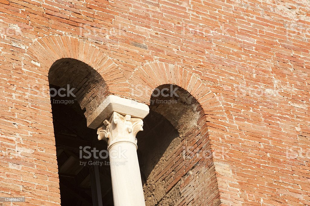 Benedictine Basilica of Sant' Angelo in Formis royalty-free stock photo