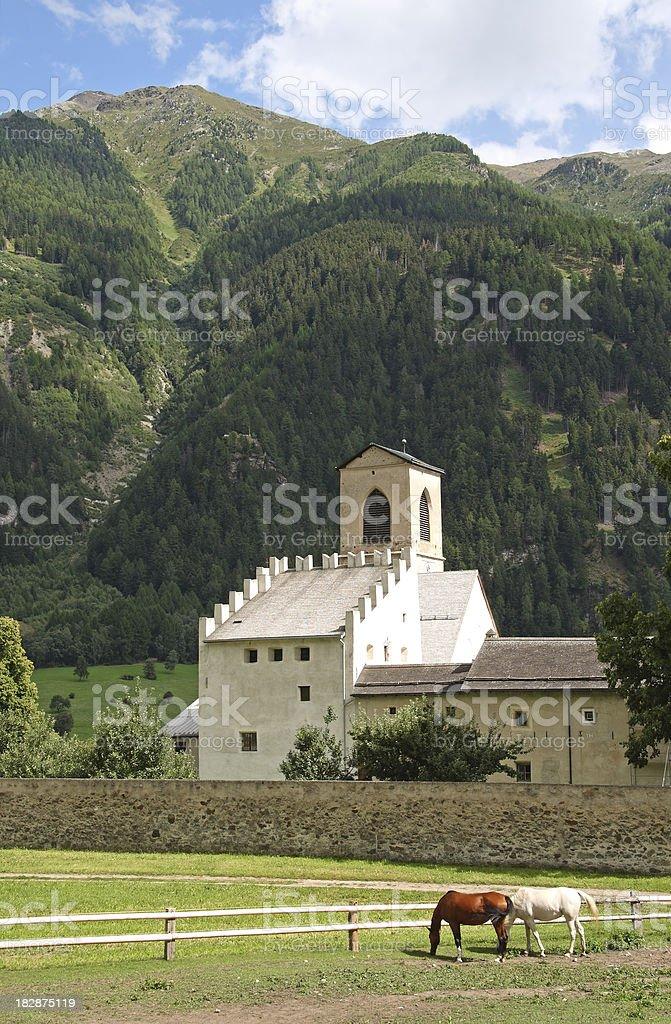 Benedictine Convent of Saint John stock photo