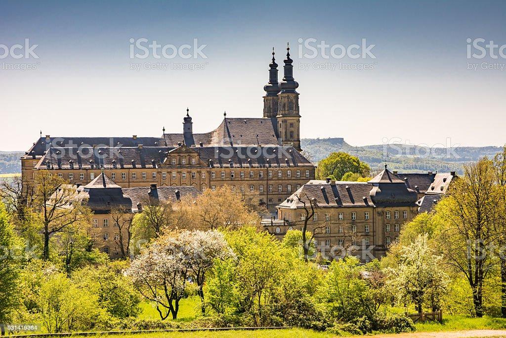 Benedictine Monatery Banz Abbey stock photo