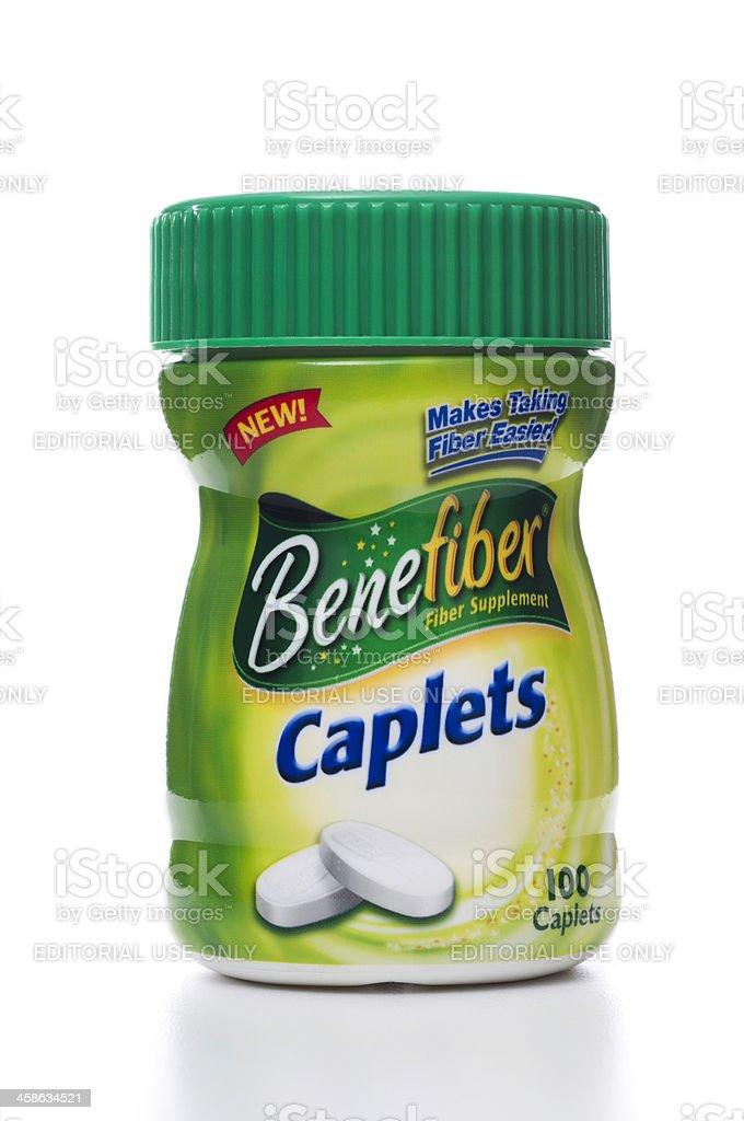 Benefiber caplets jar stock photo