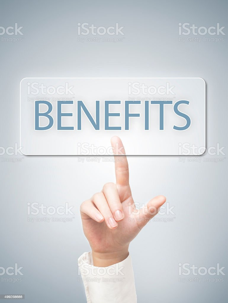 Benefitis / Touch screen concept (Click for more) stock photo