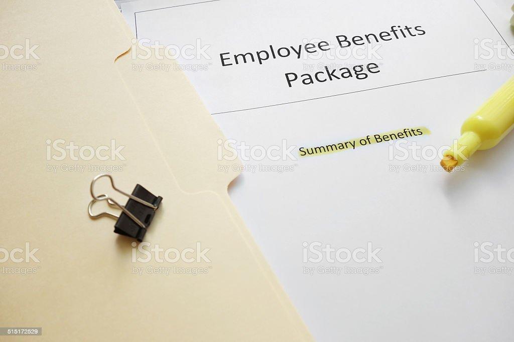 Benefits docs stock photo