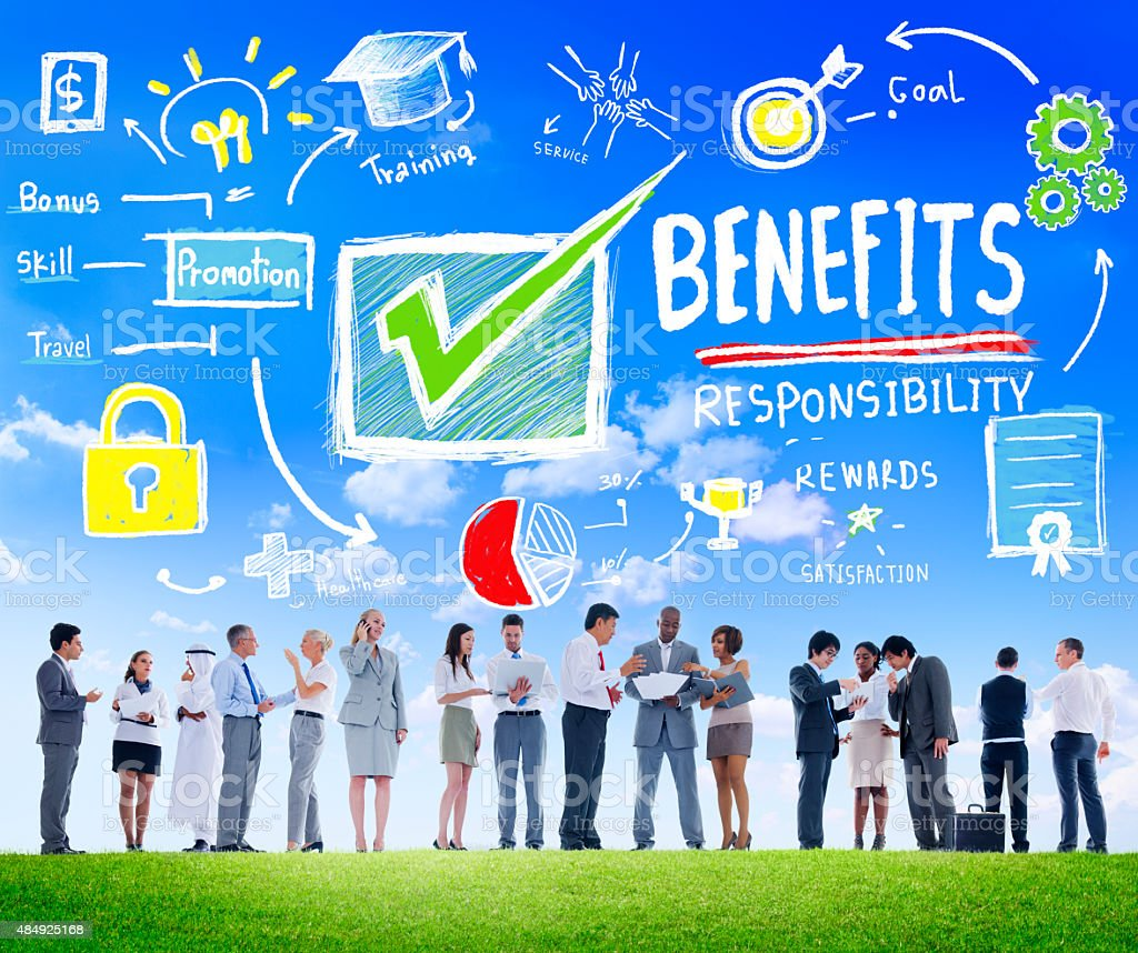 Benefits Gain Profit Earning Income Business Communication Conce stock photo