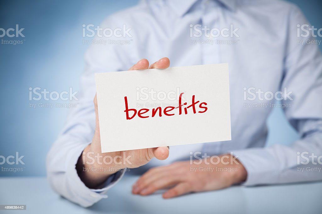 Benefits stock photo