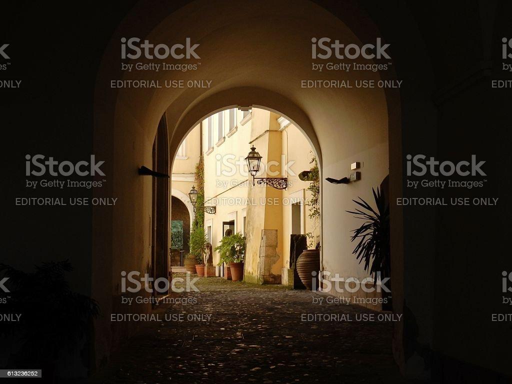 Benevento - Accesso alla Rocca dei Rettori stock photo