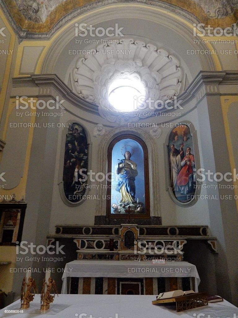 Benevento - Altare della chiesa del SS. Salvatore stock photo