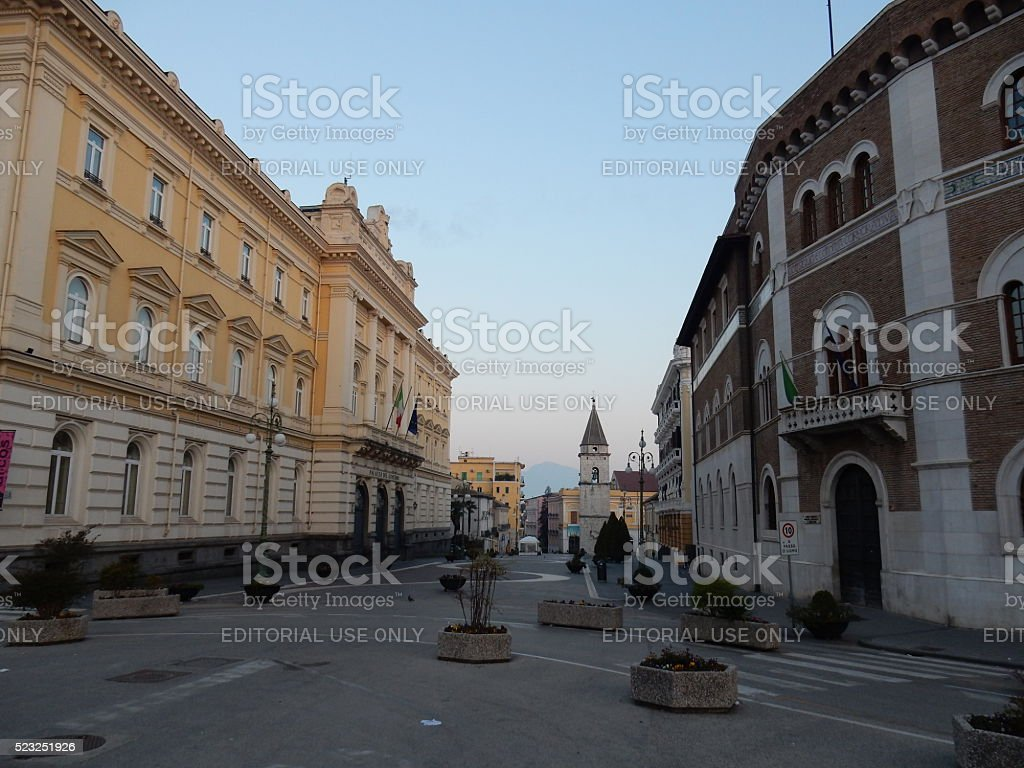 Benevento - Apice del Corso Garibaldi stock photo