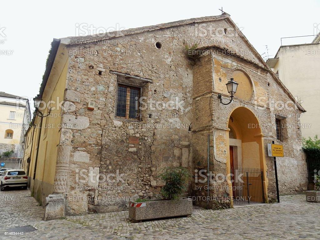 Benevento - Chiesa del Santissimo Salvatore stock photo