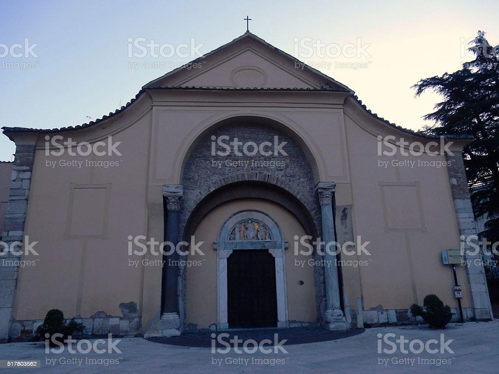 Benevento - Chiesa di Santa Sofia all'alba stock photo