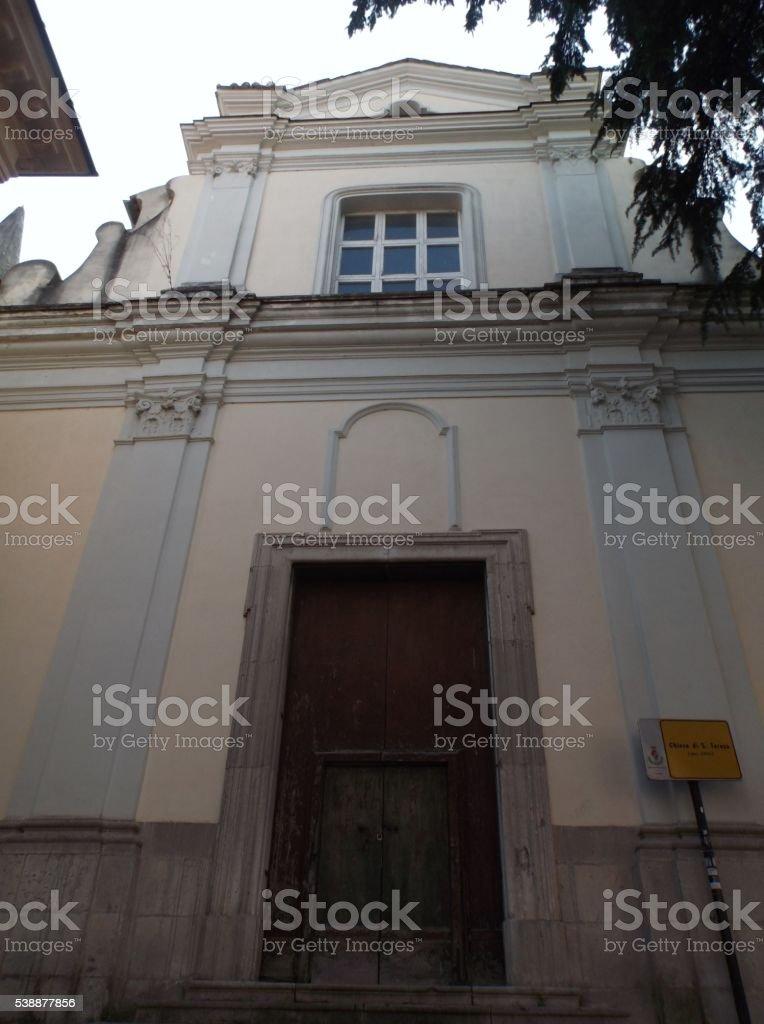 Benevento - Chiesa di Santa Teresa stock photo